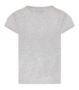 Grey girl T-shirt with logo