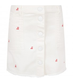 White girl skirt with red iconic cherries