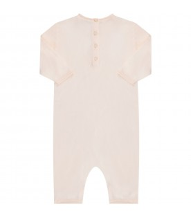 Pink babygirl babygrow with cherry