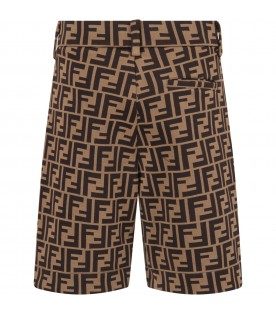 Brown boy short with double FF