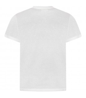 White boy T-shirt with black logo