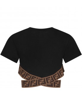 Black girl T-shirt with double FF