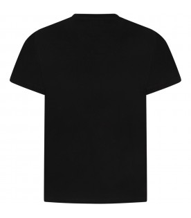 Black boy T-shirt with white logo