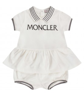 White babygirl suit with black logo