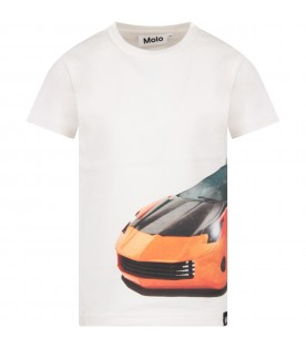 White boy T-shirt with car