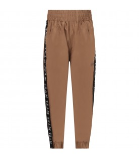 Brown boy pants with black stripes