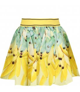 Yellow girl skirt with banans