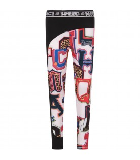 Black girl leggings with colorful letters