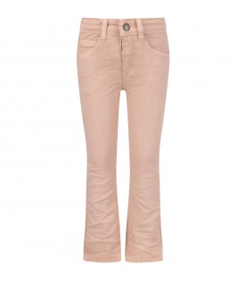 Pink girl jeans with logo