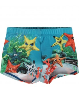 Azure babyboy swimsuit with starfish