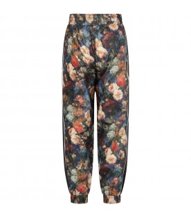 Black girl pants with flowers