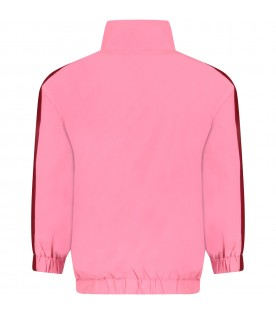 Pink girl sweatshirt with logo