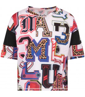 Multicolor girl T-shirt with letters
