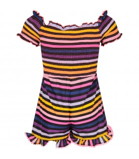 Multicolor girl summersuit  with tassels