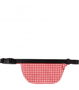 Red and white girl bum bag with iconic apple