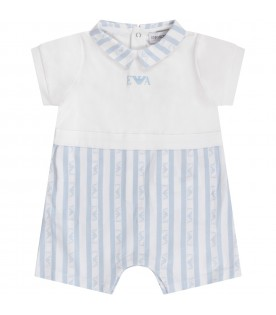 White and light blue babyboy with light blue logo and eagle