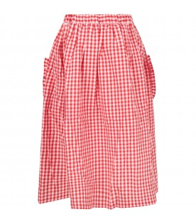 Red and white girl skirt with iconic apple