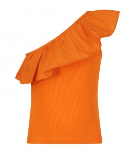 Orange girl tank top
