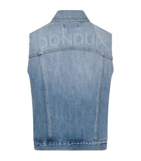 Denim boy vest with logo