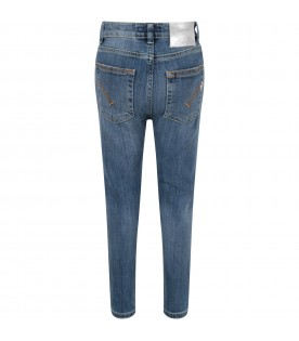 Light blue ''Iris'' jeans for girl with iconic D