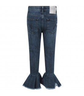 Blue ''Amanda'' girl jeans with iconic D