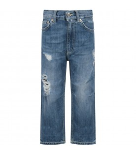 Azure ''Skater'' jeans for boy with iconic D