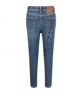 Azure ''Ziggie'' boy jeans with blue logo
