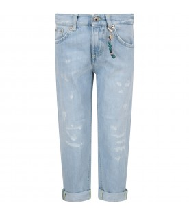 Light blue ''Brighton'' jeans for boy with locket