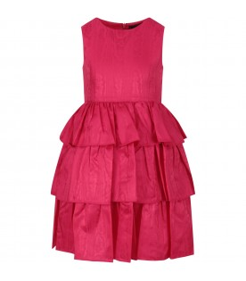 Fuchsia dress for girl