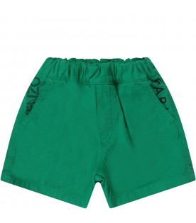 Green babyboy short with logo