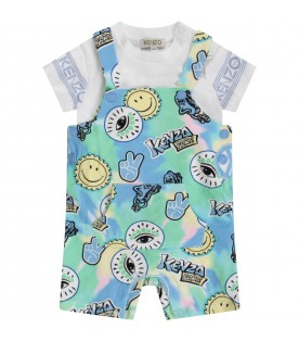 Multicolor babyboy overall with colorful prints