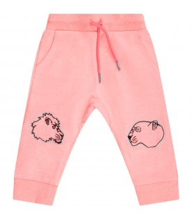 Pink girl sweatpants with tigers