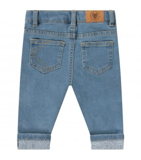 Light blue babyboy jeans with logo