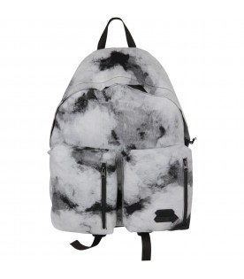 Black and grey boy backpack with logo