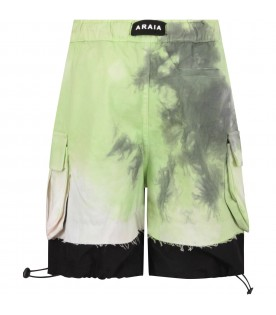 Multicolor boy short with logo