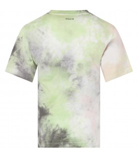 Multicolor boy T-shirt with iconic print