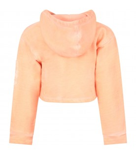 Orange girl sweatshirt with writing