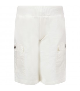 White boy short with iconic patch