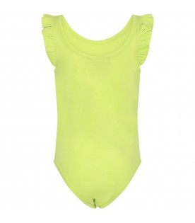Green girl body with logo