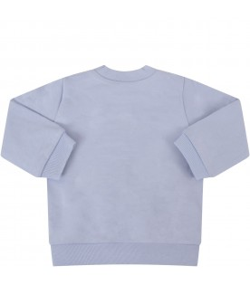 Light blue babyboy sweatshirt with iconic tiger