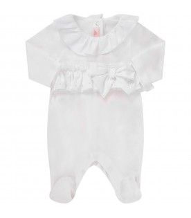 White babygirl babygrow with iconic logo