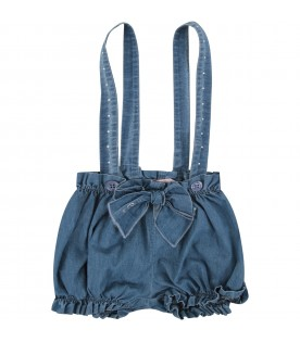 Denim babygirl overall with bow