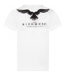 White boy T-shirt with logo