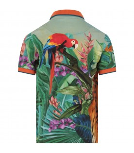 Multicolor boy polo shirt with colorful prints