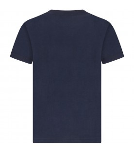 Blue boy T-shirt with iconic bear