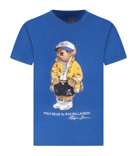 Royal blue boy T-shirt with iconic bear