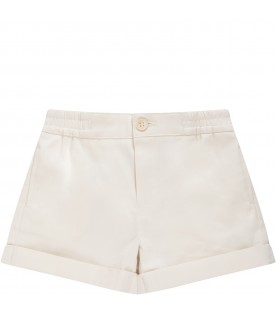 Ivory short for baby kid with light blue logo