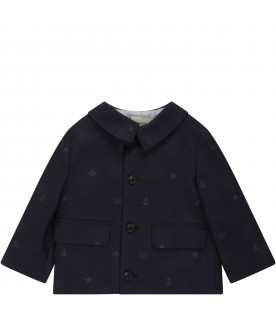 Blue jacket for baby kid