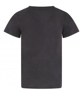 Grey t-shirt with logo for kids