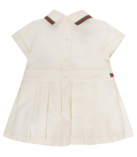 Ivory babygirl dress with double GG